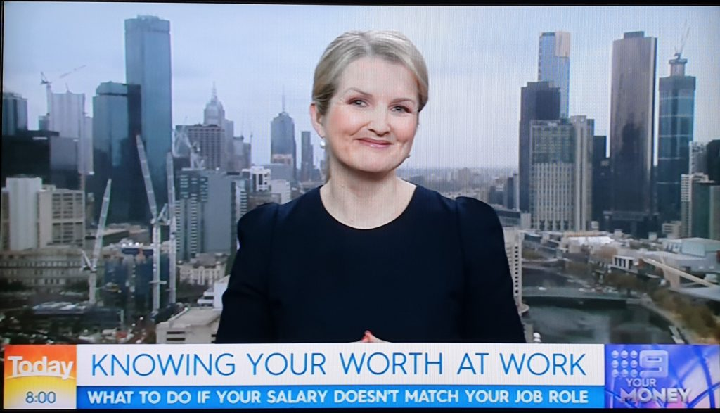 Michelle Gibbings on the TODAY Show - how to get a payrise
